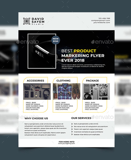 Product Flyer Template   40 Premium And Free Marketing Flyer Psd Templates For