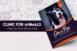 Free Bi-Fold Brochure Clinic for Animals