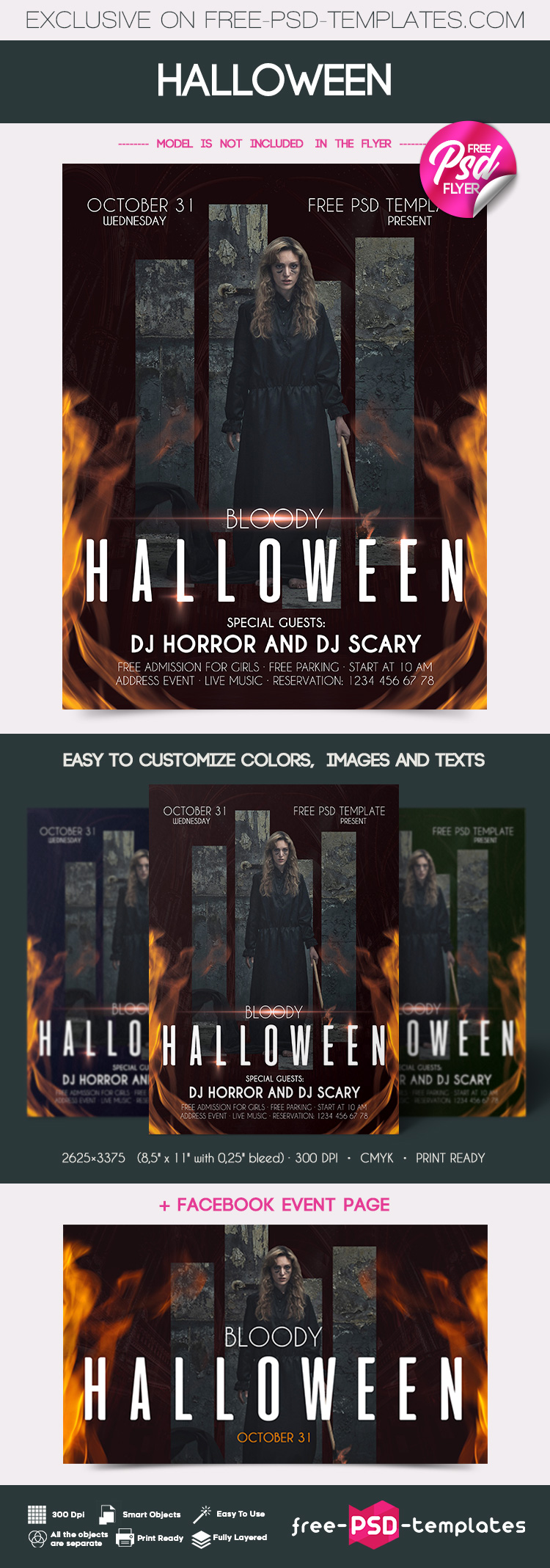 Free Halloween Flyer In Psd Free Psd Templates