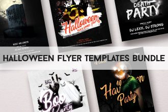 5 Free Halloween Flyer Templates Bundle in PSD