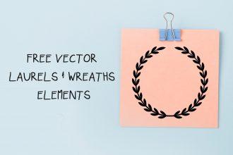 Free Vector Laurels & Wreaths Elements