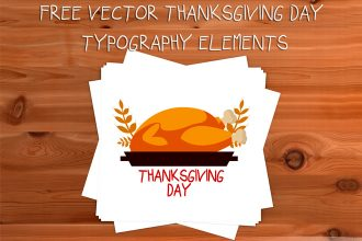 Free Vector Thanksgiving Day Typography Elements