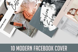 10 Modern Facebook Cover in PSD