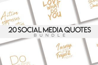 20 Social Media Quotes Bundle in PSD