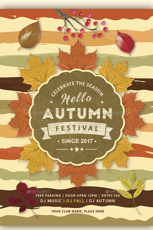 30+ Premium and Free Fall Festival and Party Flyer Designs in PSD