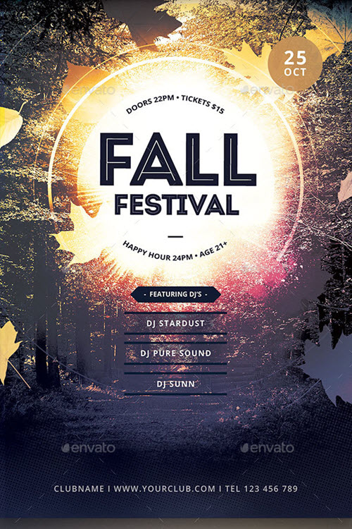 30  premium and free fall festival and party flyer designs