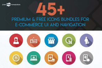45+ Premium & Free Icons Bundles for E-Commerce UI and Navigation