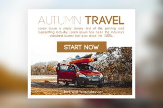 15 Free Autumn Travel Banners Collection in PSD
