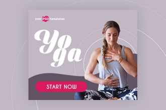 15 Free Yoga Banners Collection in PSD