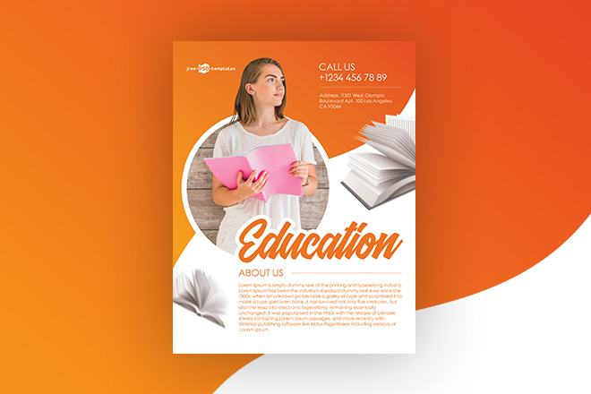Free Education Flyer In Psd Free Psd Templates