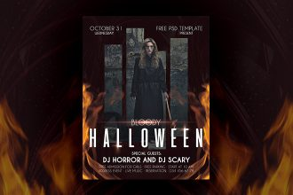 Free Halloween Flyer in PSD