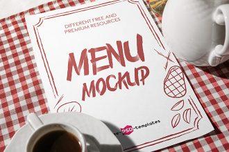 Free Restaurant Menu Mock-up in PSD