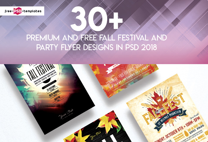 30 premium and free fall festival and party flyer designs in psd