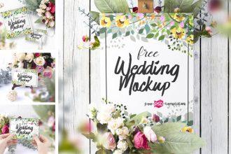 6 Free Wedding Mockup Set
