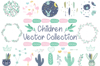 Free Children Vector Collection