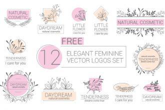 Free Elegant Feminine Vector Logos Set