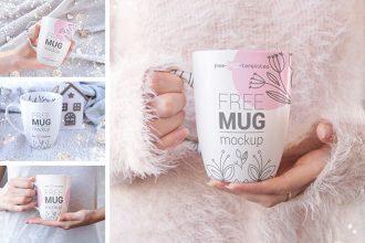 5 Free Mug Mockup Set