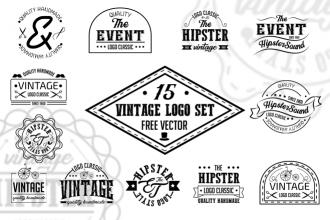 Free Vintage Vector Logo Set