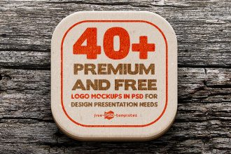40+ Premium and Free Logo Mockups in PSD for Design Presentation Needs