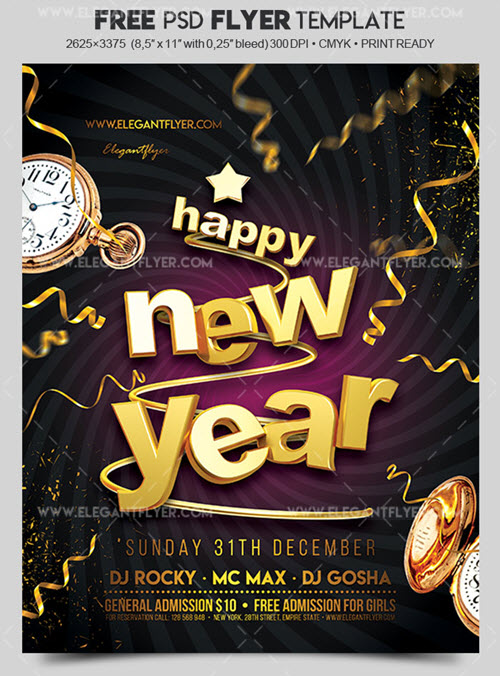 45 premium and free new year s eve flyer psd templates for upcoming