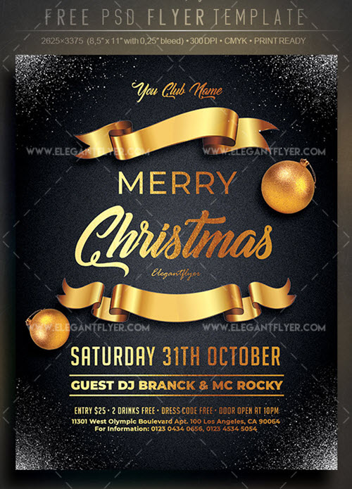 40 Premium Free Christmas Flyer Templates In Psd For Best