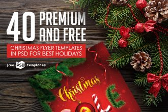 40 Premium & Free Christmas Flyer Templates in PSD for Best Holidays