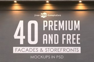 40 Premium and Free Facades and Storefronts Mockups in PSD