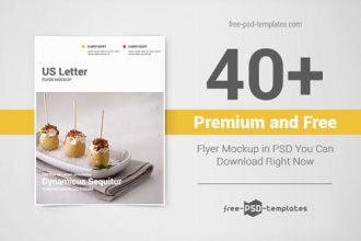 40+ Premium and Free Flyer Mockup in PSD You Can Download Right Now