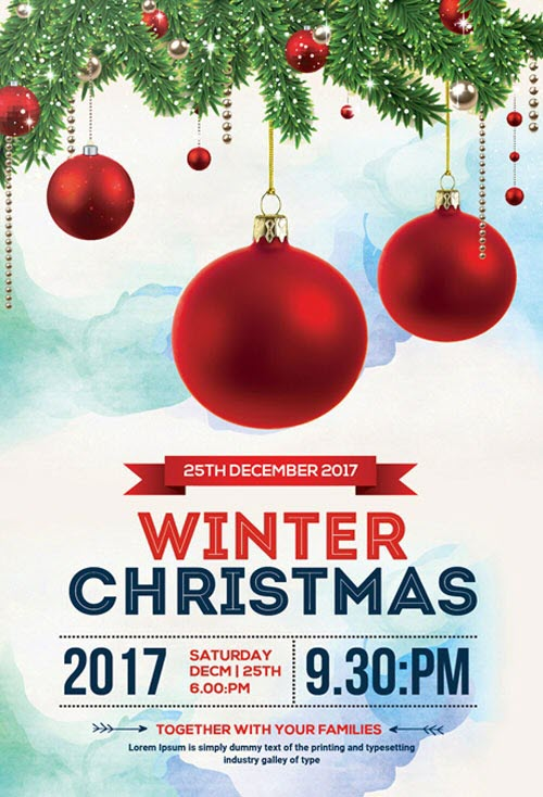 Christmas Flyers.40 Premium Free Christmas Flyer Templates In Psd For Best