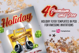 40 Premium and Free Holiday Flyer Templates in PSD for Awesome Invitations