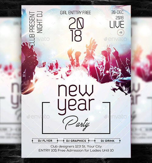 45+ Premium and Free New Year\'s Eve Flyer PSD Templates for Upcoming ...