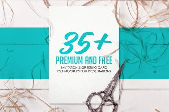 35+ Premium and Free Invitation & Greeting Card PSD Mockups for Presentations