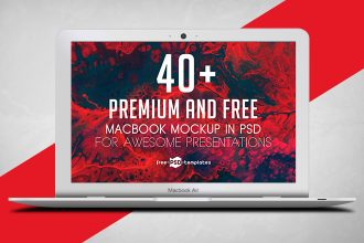 40+ Premium and Free MacBook Mockups in PSD for Awesome Presentations