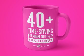 40+ Time-Saving Premium and Free Mug PSD Mockups 2018