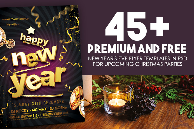 45 Premium And Free New Years Eve Flyer PSD Templates For Upcoming X Mas 2019 Parties
