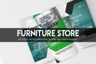 Free Furniture Store Tri-Fold Brochure in PSD