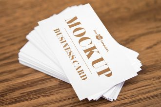 Free Business Card V03 Mock-up in PSD