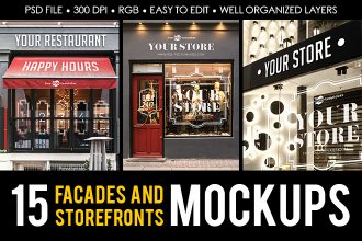 Free Facades and StoreFronts MockUps + Premium Version