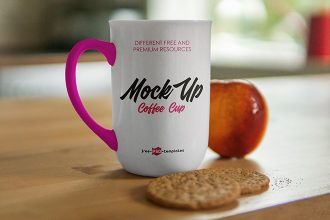 Free Mug V02 Mock-up in PSD