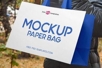 3 Free Paper Bag Mock-ups in PSD