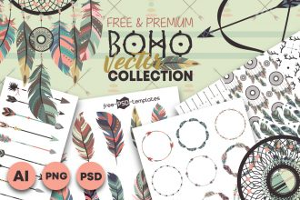 Free Boho Vector Collection + Premium Version