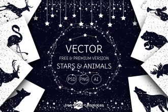 Free Vector Stars and Animals + Premium Version