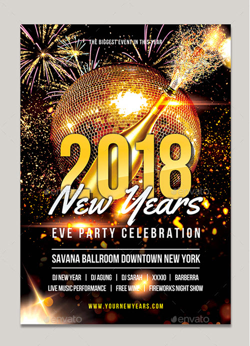 45 Premium And Free New Year S Eve Flyer Psd Templates For Upcoming X Mas 2019 Parties Free Psd Templates