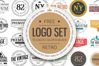 Free Retro Logo Set