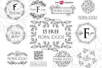 15 Free Vector Floral Logos