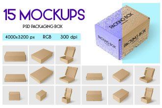Free Packaging Box MockUps + Premium Version