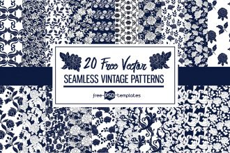 20 Free Seamless Vector Vintage Patterns