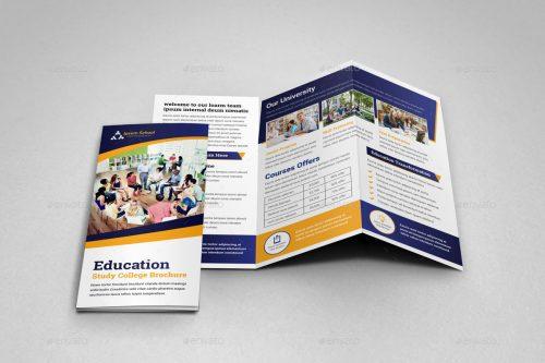 85 premium and free psd tri fold bi fold brochures templates for