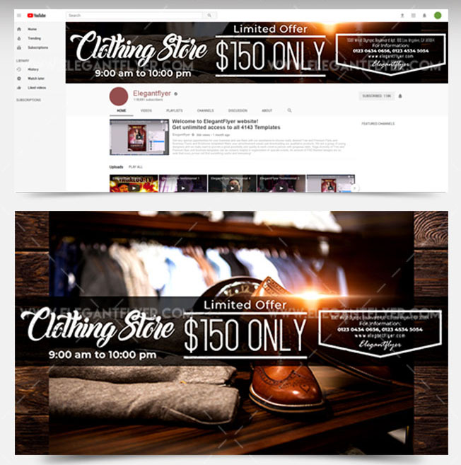 36+PREMIUM & FREE PSD YOUTUBE CHANNEL BANNERS FOR THE BEST CREATIVE