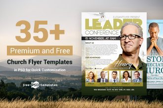 35+ Premium & Free Church Flyer Templates in PSD for Quick Customization